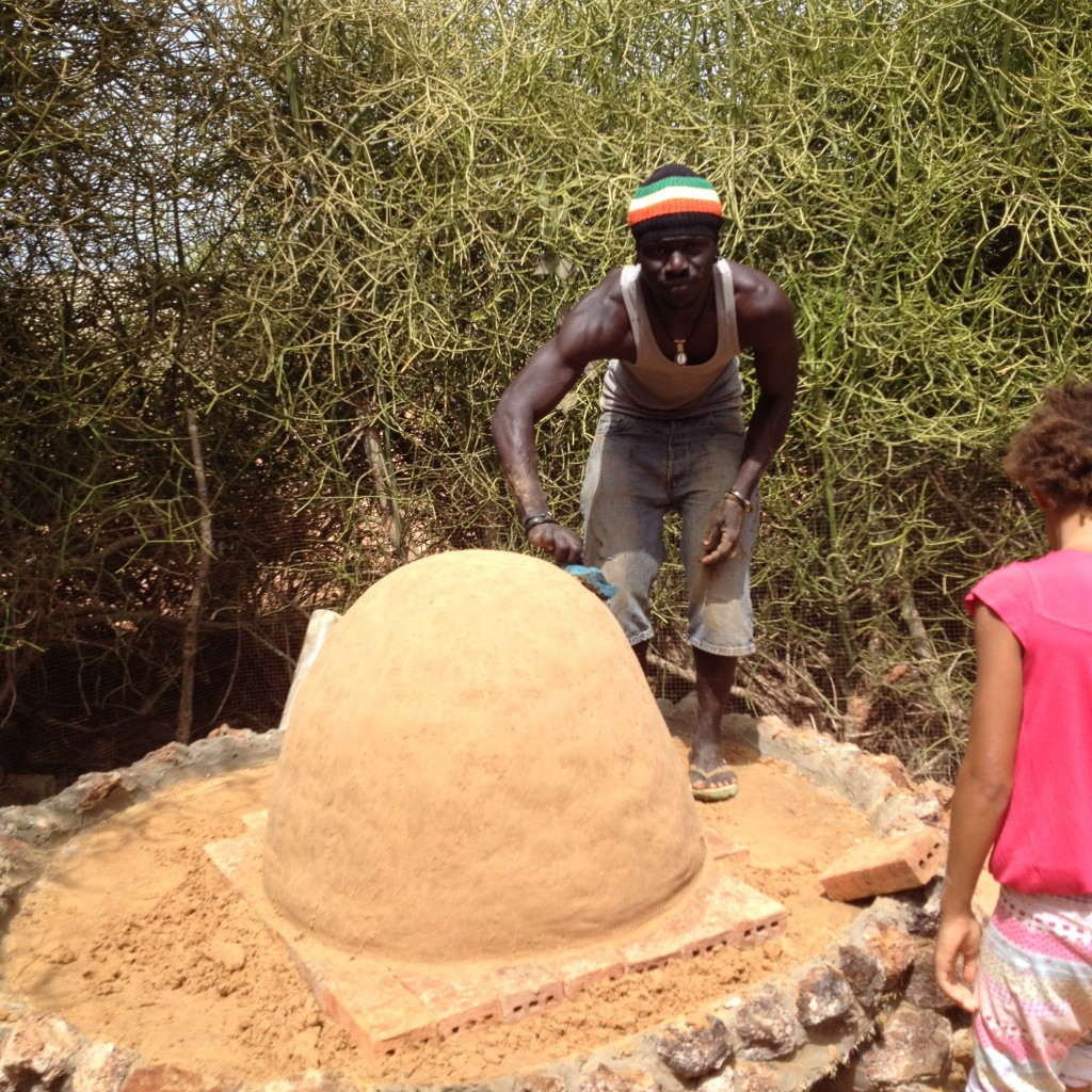 Baye massages the beautiful sand dome