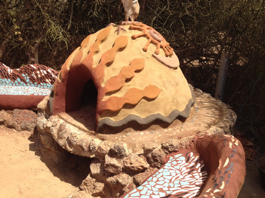 Finished oven with local clay pigments