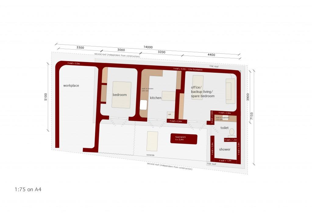 Senegal Workshop House Floor Plan